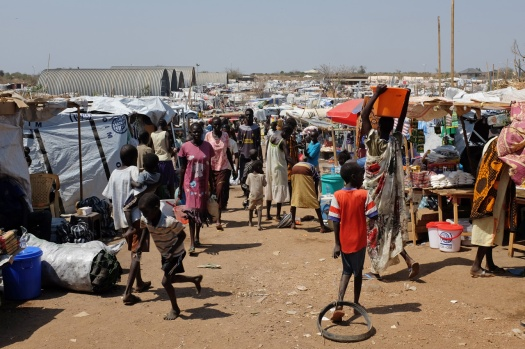 Displaced-persons-at-the-Juba-3-site South Sudan